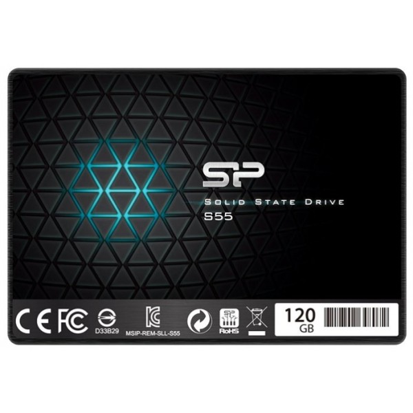 Твердотельный накопитель SSD 2.5'' 120 Gb Silicon Power SATA III V55 + Desktop kit (R556/W475MB/s) (SP120GBSS3V55S25) SP120GBSS3V55S25
