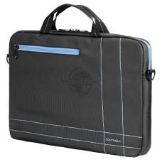 Сумка для ноутбука Continent CC-201GB до 15.6'' (серый с синей отделкой. нейлон/полиэстер. 40 x 30 x CON-CC201GB/Grey