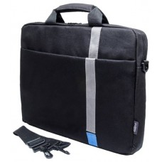 Сумка PC PET PCP-1001BL 15.6'' Polyester HQ Classic Toplader Front compartment Blue Patch Черный PCP-1001BL