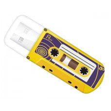 Память Flash USB 32Gb Verbatim Mini Cassette Edition Yellow
