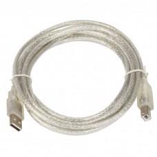 Кабель соединительный USB VCOM 6900 AMBM 2.0V. прозрачная оплетка (1.8 м)