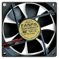 Вентилятор 80 mm. Gembird fanps. 2600rpm. 27dba. 2 pin. втулка (oem) FANPS