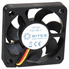 Вентилятор 50 mm | 5Bites (f5010b-3). 4500rpm. 24dba. 3 pin. h=10mm. подшипник качения (oem) F5010B-3