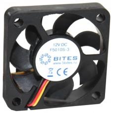 Вентилятор 50 mm | 5Bites (f5010s-3). 4500rpm. 24dba. 3 pin. h=10mm. подшипник скольжения (oem) F5010S-3