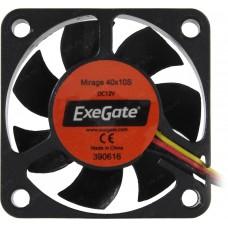 Вентилятор ExeGate EX166186RUS Mirage-S 40x40x10 подшипник скольжения, 5500 RPM, 23dB, 3pin