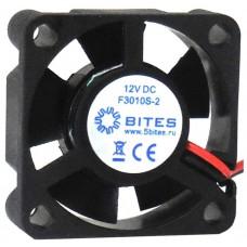 Вентилятор 30 mm. 5Bites (f3010s-2). 8000rpm. 23dba. 2 pin. h=10mm. подшипник скольжения (oem) F3010S-2