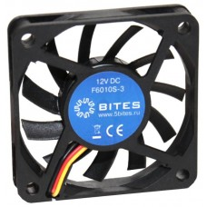 Вентилятор 60 mm | 5Bites (f6010s-3). 3500rpm. 26dba. 3 pin. h=10mm. подшипник скольжения (oem) F6010S-3