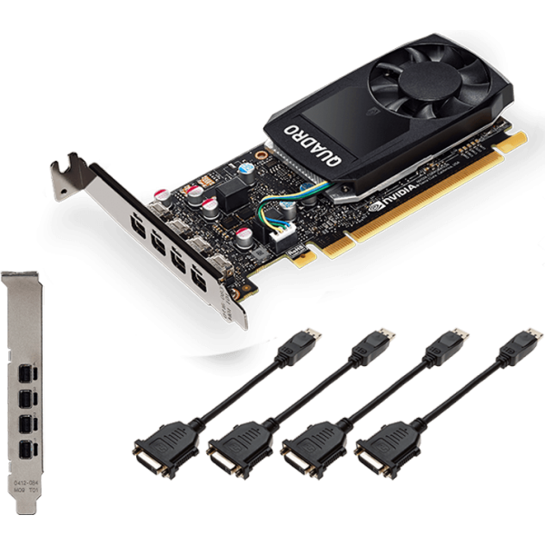 Видеокарта VGA PNY NVIDIA Quadro P1000, 4 GB GDDR5/128-bit, PCI Express 3.0 x16, DP 1.4x4