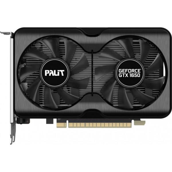 Видеокарта Palit PCI-E PA-GTX1650 GP 4G D6 NVIDIA GeForce GTX 1650 4096Mb 128bit GDDR6 1410/12000 DVIx1/HDMIx1/DPx1/HDCP Ret
