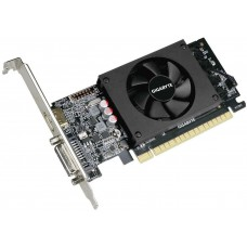 GigaByte GeForce GT 710 954Mhz PCI-E 2.0 2048Mb 5010Mhz 64 bit DVI HDMI HDCP Low Profile GV-N710D5-2GL