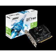 MSI GeForce GT 730 700Mhz PCI-E 2.0 2048Mb 1800Mhz 128 bit DVI HDMI HDCP N730-2GD3V2