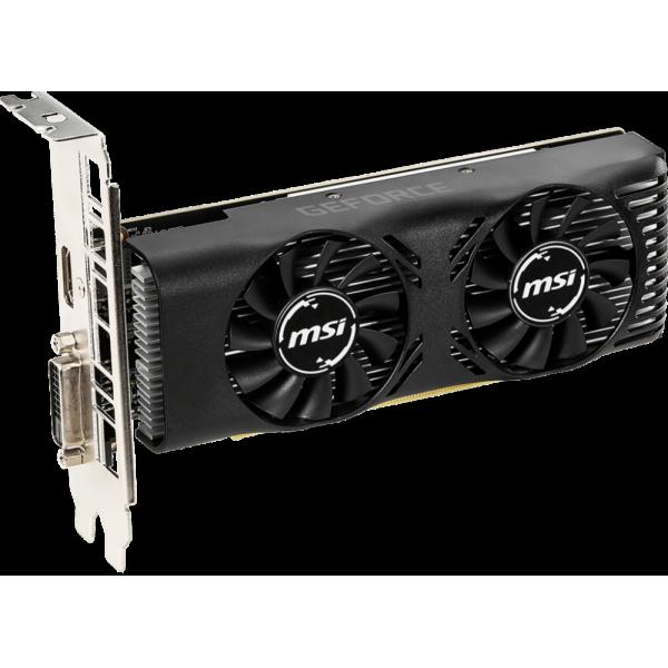 Видеокарта MSI GeForce GTX 1650 4GT LP OC. 4GB GDDR5. DVI. HDMI GTX16504GTLPOC