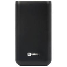 Внешний аккумулятор HARPER PB-10010 black (10000mAh/Li-Pol; Выход 2 USB: 5V/1A и 5V/2,1A; LED индикатор)