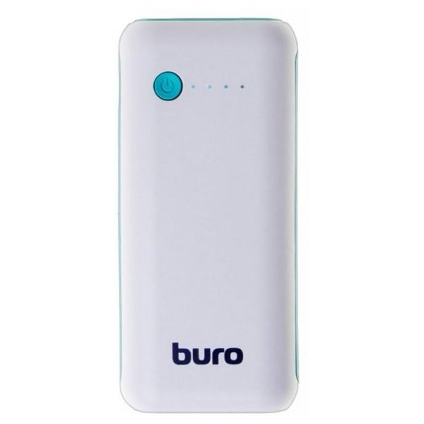 Мобильный аккумулятор Buro rc-5000wb li-ion 5000mah 1a белый/голубой 1xusb RC-5000WB