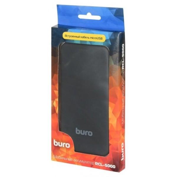 Мобильный аккумулятор Buro RCL-5000-GW Li-Pol 5000mAh 1A зеленый/белый 1xUSB RCL-5000-GW