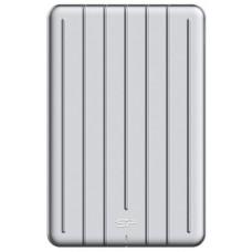 Внешний жесткий диск Silicon Power Bolt B80 120Gb Type-C. . водо- и пылезащита категории IP68. алюминий. SP120GBPSDB80SCS. серебристый SP120GBPSDB80SCS
