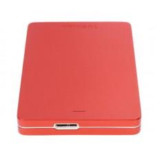 Внешний жесткий диск Toshiba Canvio Alu 1ТБ 2.5'' USB 3.0 HDTH310ER3AB красный HDTH310ER3AB