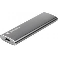 Твердотельный диск Verbatim VX500. 120GB external. USB 3.1. [R/W -500/290 MB/S]. металл 47441