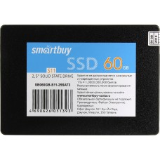 Твердотельный накопитель SSD 2.5'' Smartbuy 60Gb S11 Bulk (SB060GB-S11-25SAT3) (SATA3, up to 320/180Mbs, TLC, PS3111-S11, 7mm)