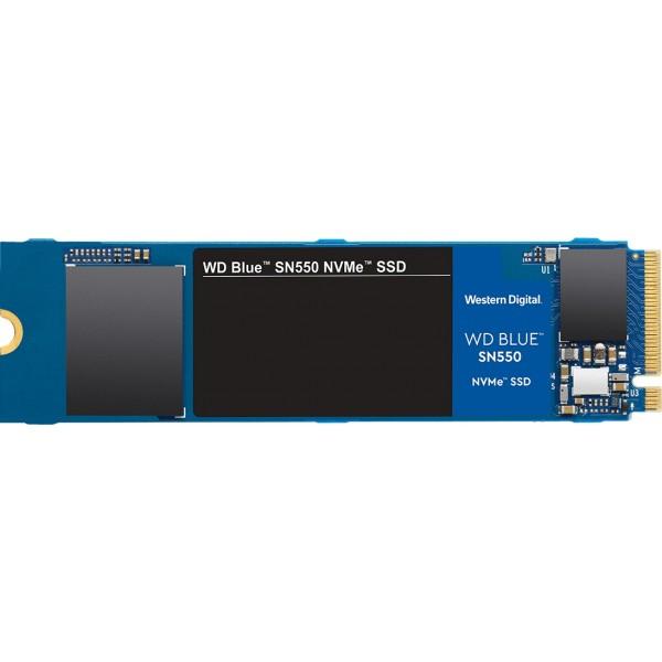 SSD-накопитель M.2 0250GB (NVME) WESTERN DIGITAL BLUE SN550 WDS250G2B0C [внутренний SSD. M.2. 250 Гб. PCI-E x4. чтение: 2400 Мб/сек. запись: 950 Мб/сек. TLC]